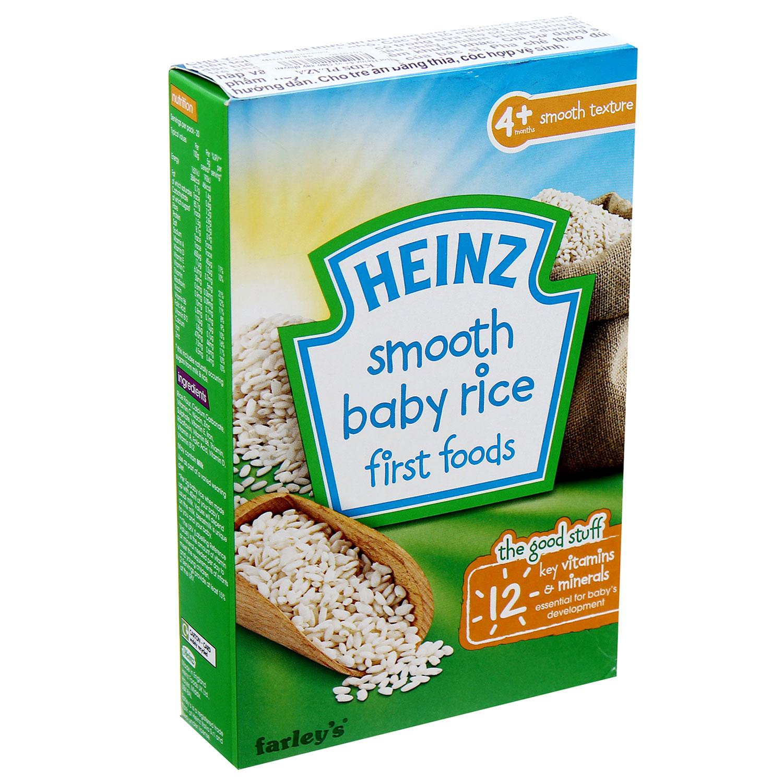 Bột ăn dặm Heinz Anh 4+ vị gạo xay nhuyễn