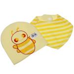 Bộ khăn mũ in hình ong QQ