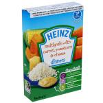 Bột ăn dặm Heinz 7+ Vị ngũ cốc, cà rốt, pho mai, bắp ngột nghiền
