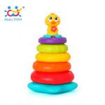Đồ chơi xếp chồng vịt con có nhạc và đèn Huile Toys HL.2101