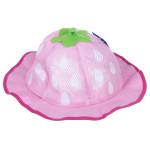 Mũ vành lưới bé gái hình dâu tây