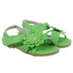 Dép sandal bé gái quai dán màu xanh