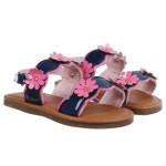 Sandal in hoa bé gái DN
