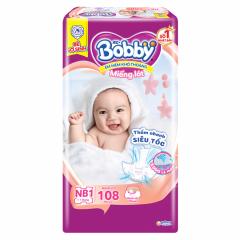 Bỉm Bobby Newborn1 New 108pcs (Miếng lót)