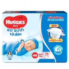 Bỉm - Tã dán Huggies size NewBorn 74 pcs (dưới 5kg)