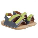 Sandal dán màu xám, xanh lá