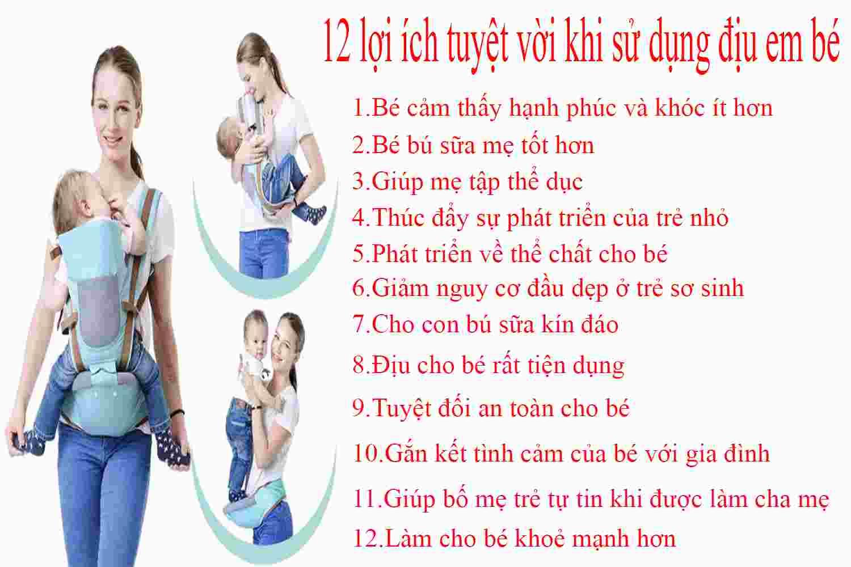 12 lợi ích khi sử dụng địu em bé