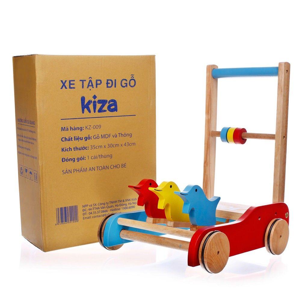 xe tập đi bằng gỗ cho bé