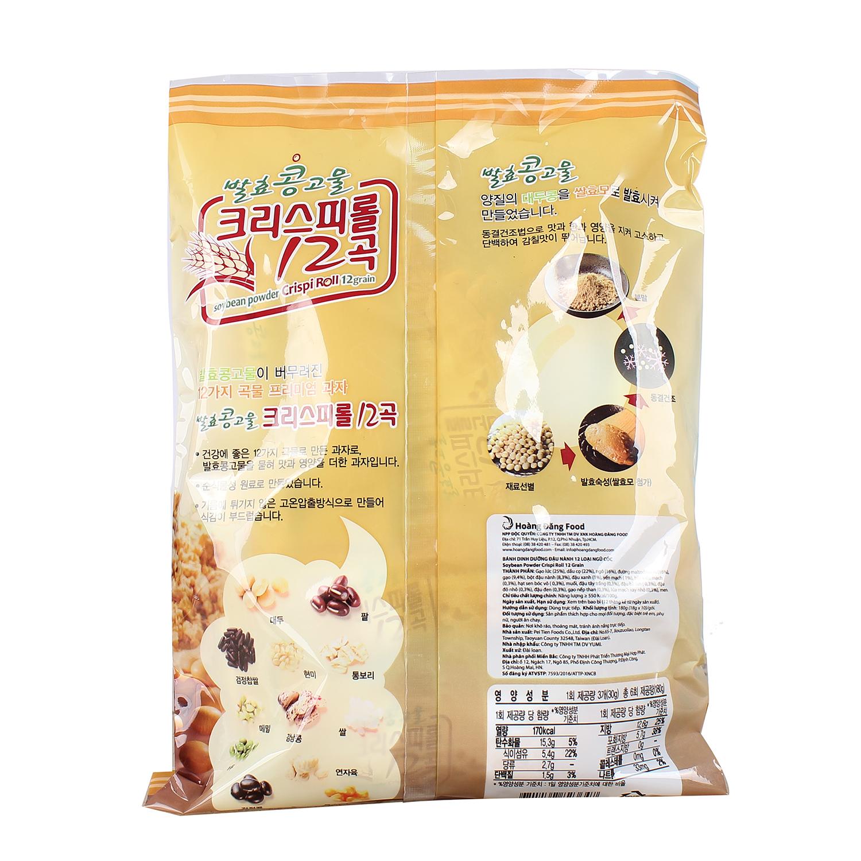 Thông tin dinh dưỡng bánh đậu nành 12 loại ngũ cốc