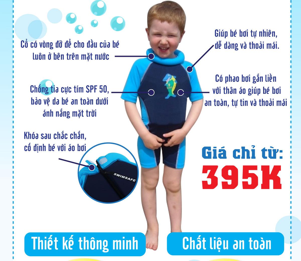 áo bơi tự nổi Swimsafe