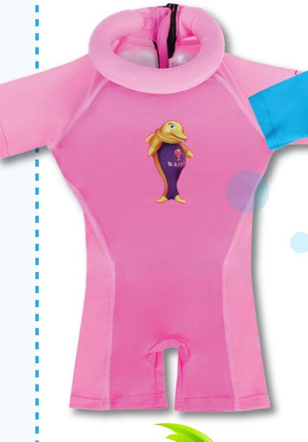 Bộ quần áo tập bơi cho bé Swimsafe màu Hồng