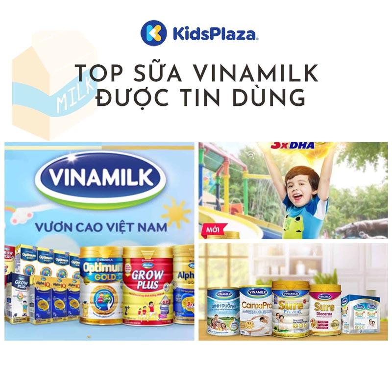 các loại sữa bột Vinamilk cho bé