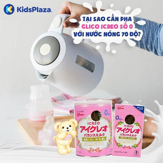 cách pha sữa glico số 0 320g