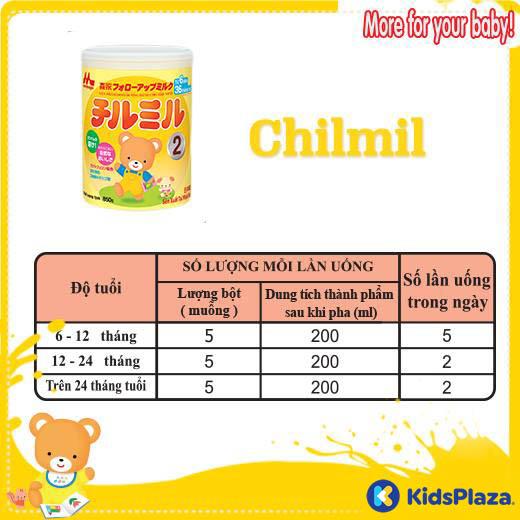 cách pha sữa morinaga chilmil