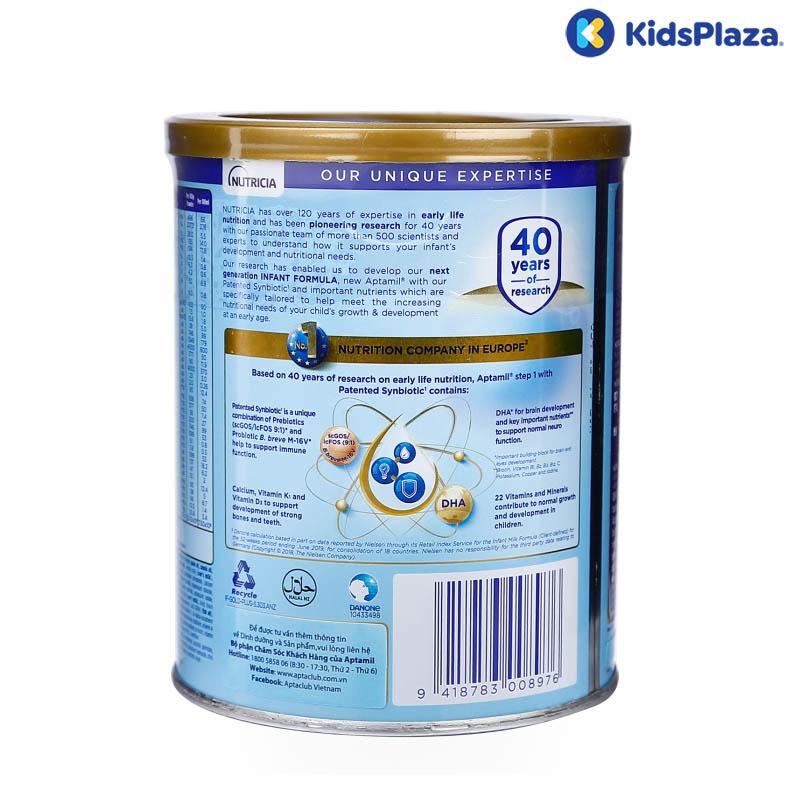 sữa aptamil new zealand số 1 380g cho bé 0-12 tháng