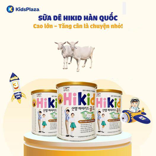 sữa hikid hàn quốc phát triển chiều cao