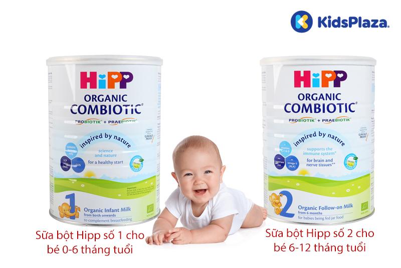 Sữa bột HiPP có mấy số?