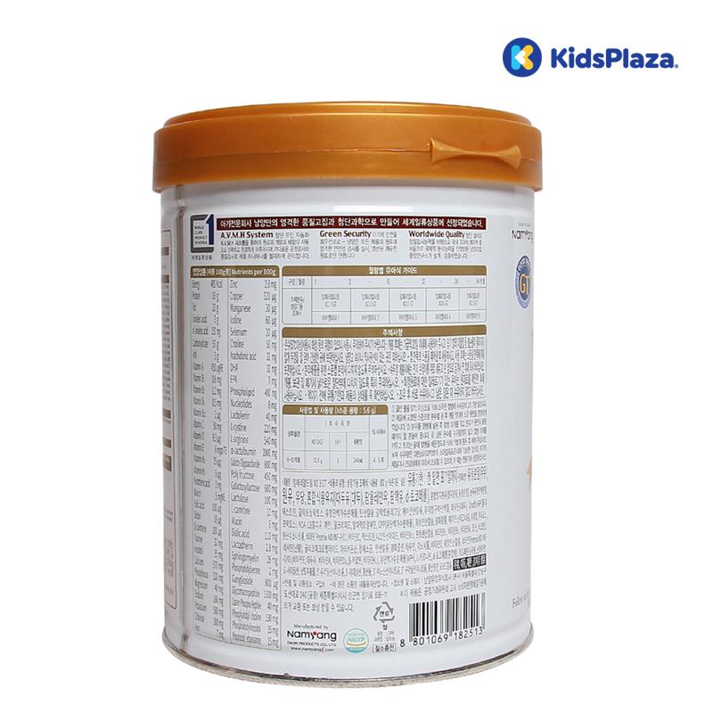 Các thành phần chính có trong sữa XO Hàn Quốc số 3