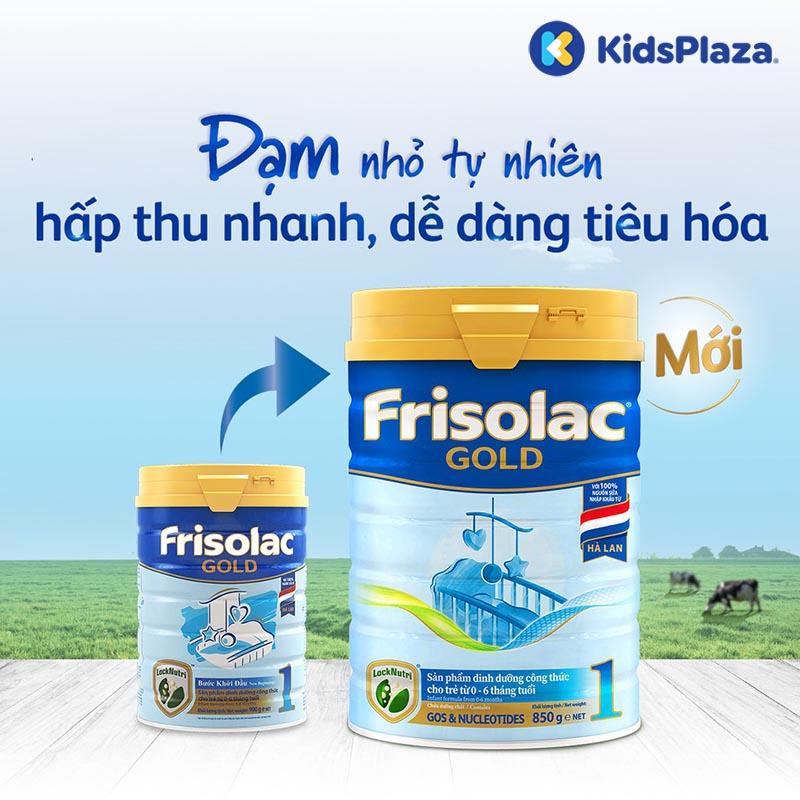 Sữa Frisolac Gold 1 850g cho bé 0-6 tháng