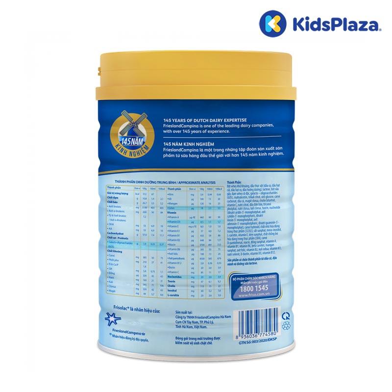 Sữa bột Frisolac Gold 1 850g cho bé 0-6 tháng