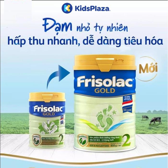Sữa Frisolac Gold 2 850g cho bé 0-12 tháng