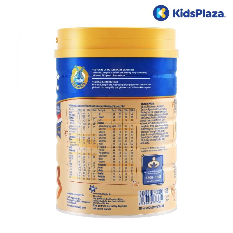 Sữa bột Frisolac Gold 3 400g cho bé 1-2 tuổi