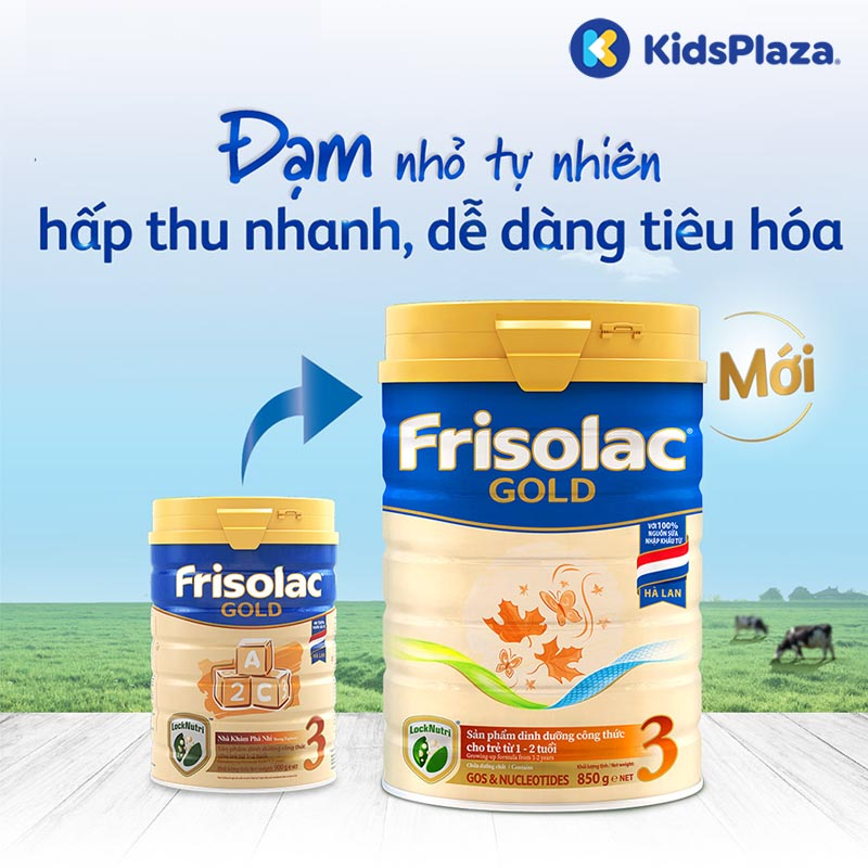 Sữa Frisolac Gold 3 850g cho bé 1-2 tuổi