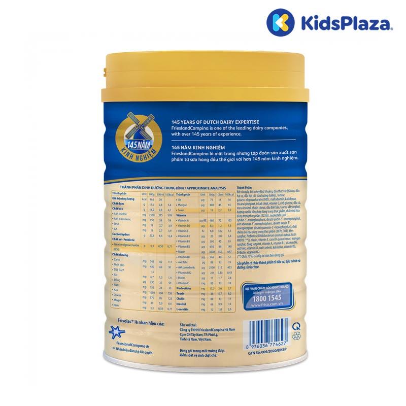 Sữa bột Frisolac Gold 3 850g cho bé 1-2 tuổi