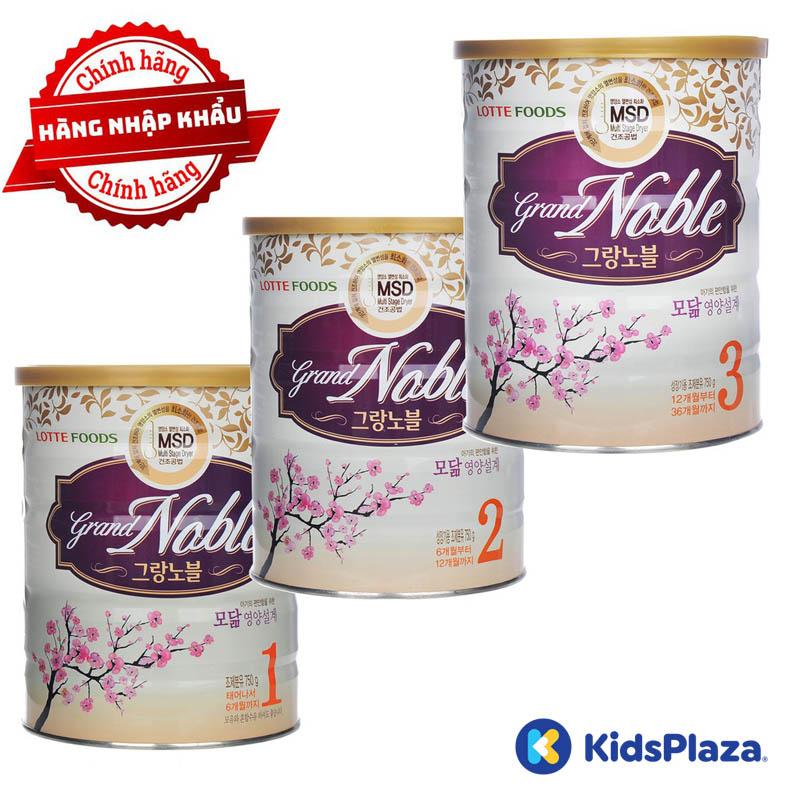 sữa grand noble hàn quốc cho bé