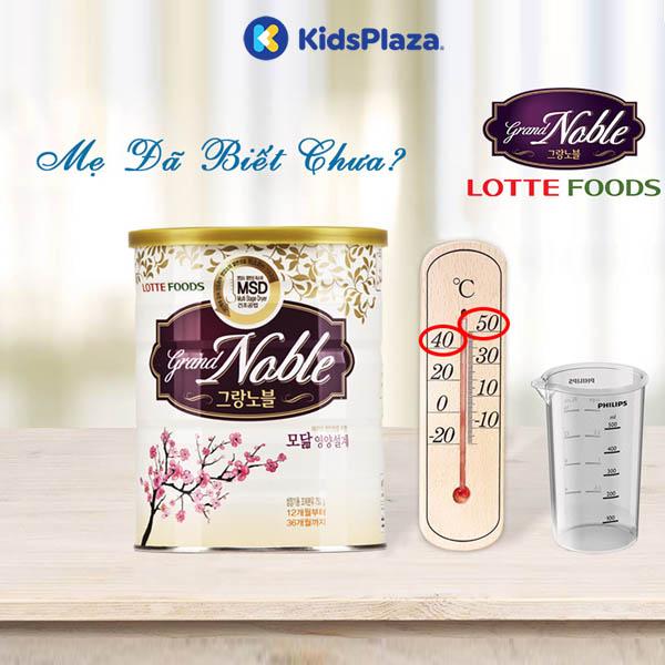 sữa grand noble baby cho bé