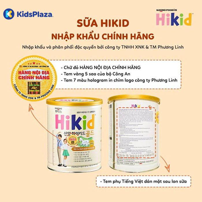 sữa hikid của hàn quốc cho bé