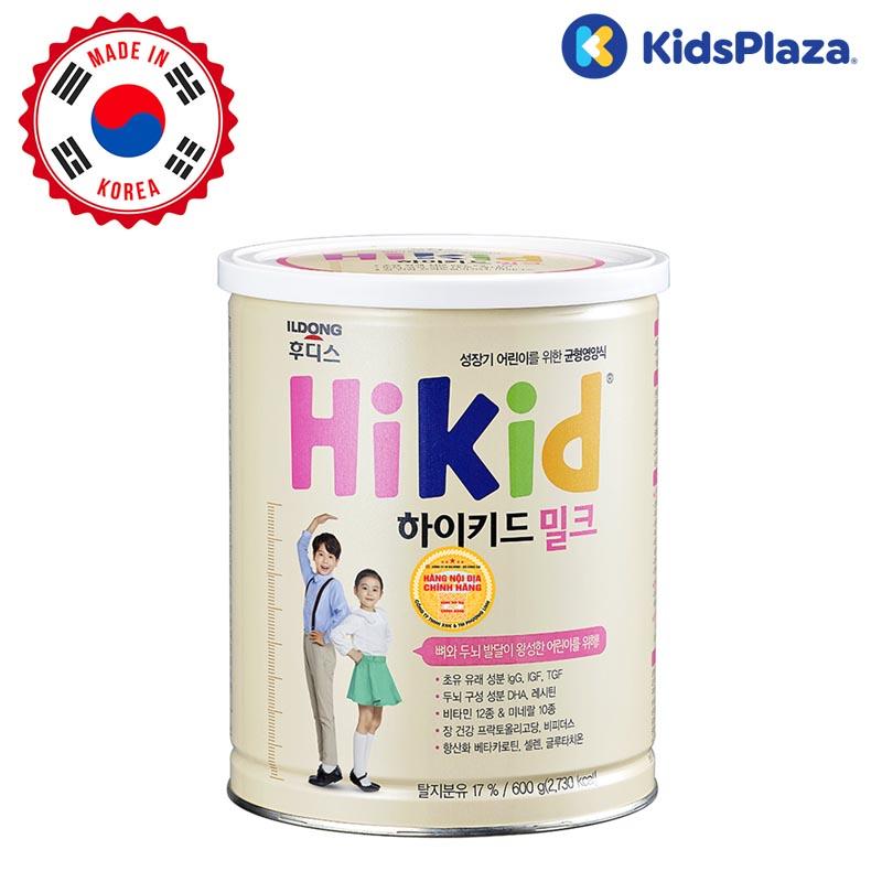 sữa hikid vị vani 600g cho bé 1-9 tuổi