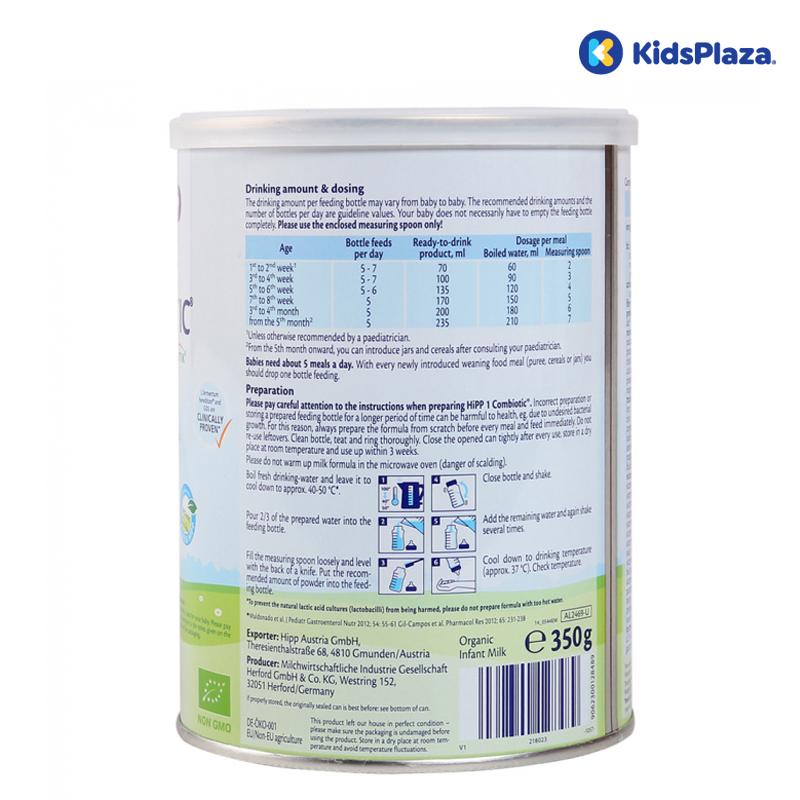 Sữa HiPP số 1 Combiotic Organic cho bé 0-6 tháng