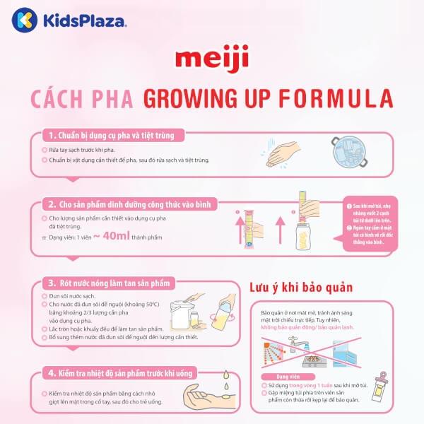 cách pha sữa meiji thanh ezcube