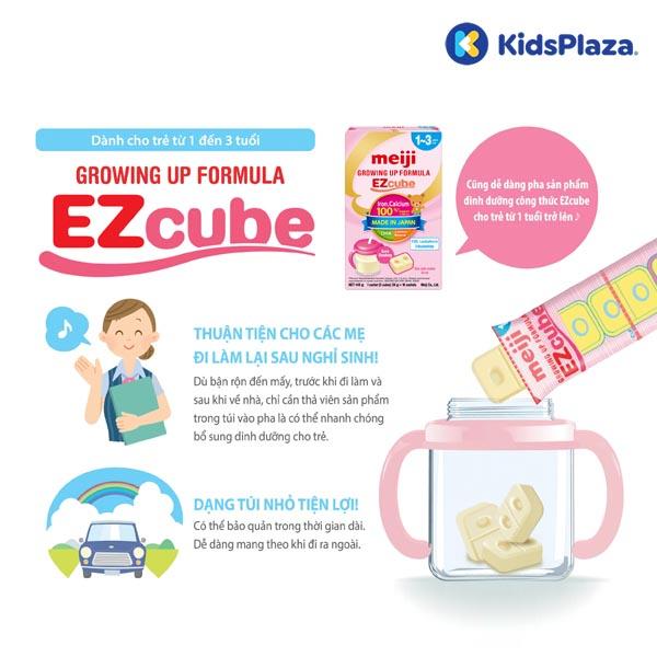 sữa meiji thanh ezcube rất tiện lợi