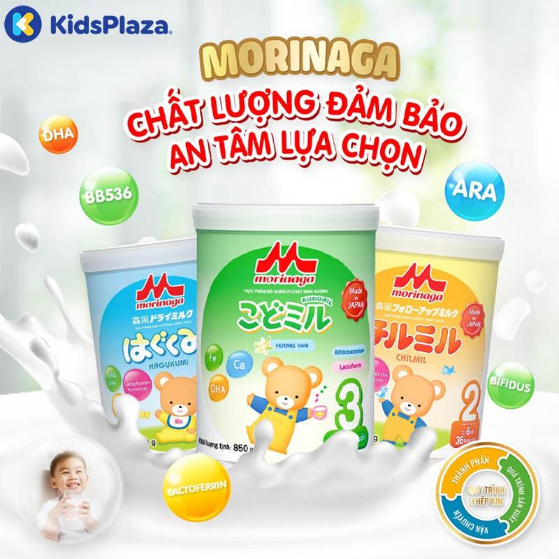 sữa morinaga cho bé nội địa nhật