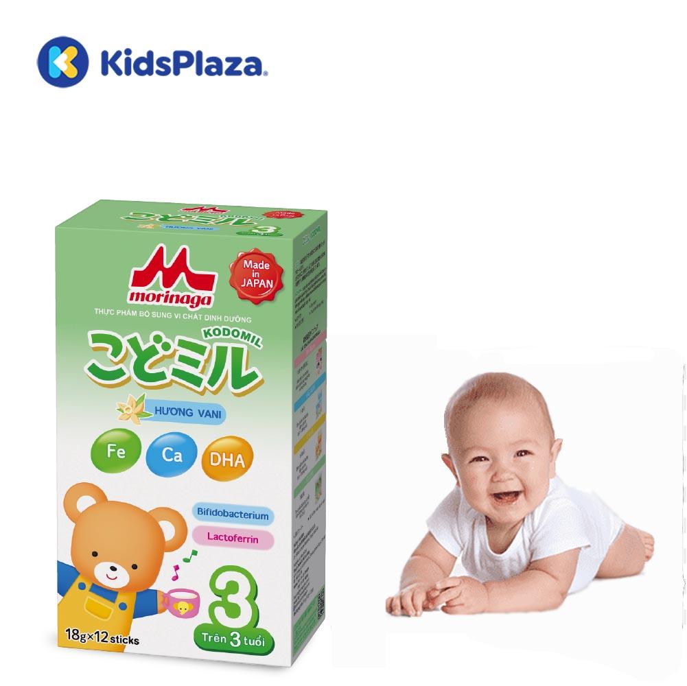 sữa morinaga thanh số 3 hương vani cho bé trên 3 tuổi