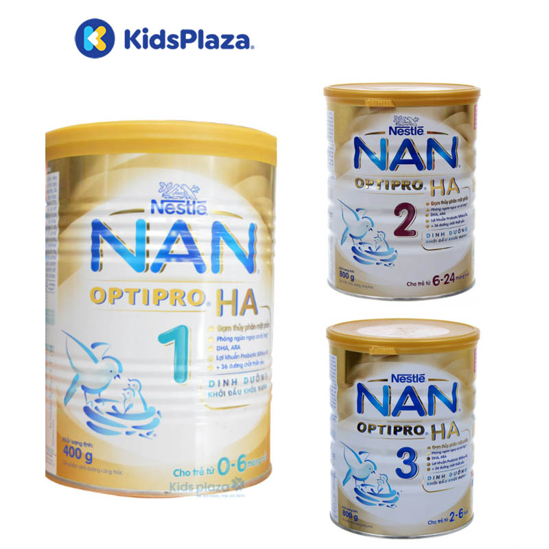 sữa nan ha dành cho trẻ bị dị ứng