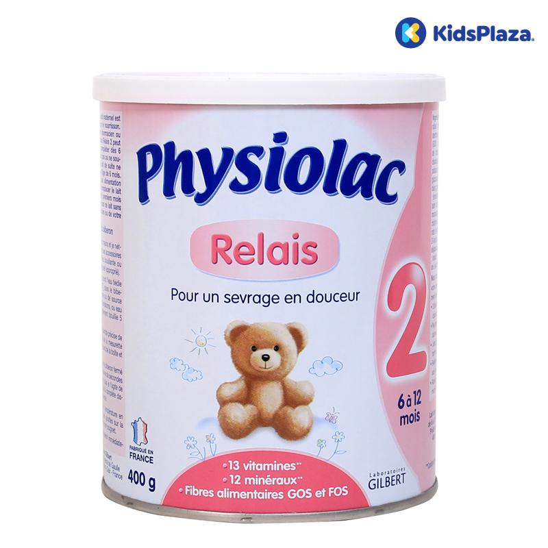 Sữa Physiolac số 2 dùng cho bé 6-12 tháng tuổi