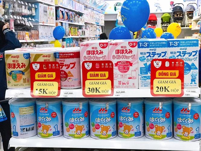 Sữa Meiji Nhật có giá bao nhiêu