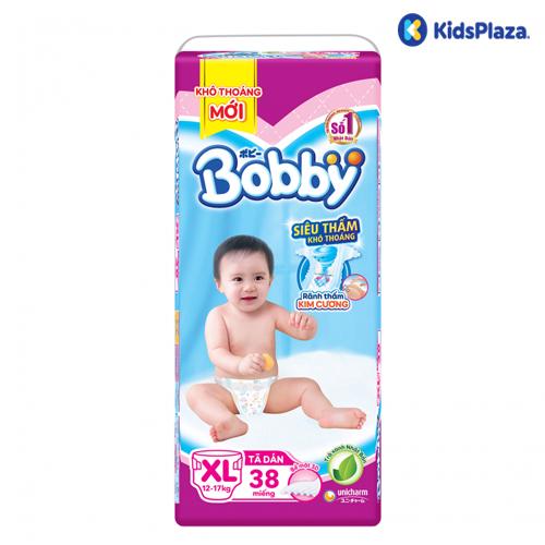 Bỉm tã dán Bobby size XL 38 miếng cho bé 12-17kg