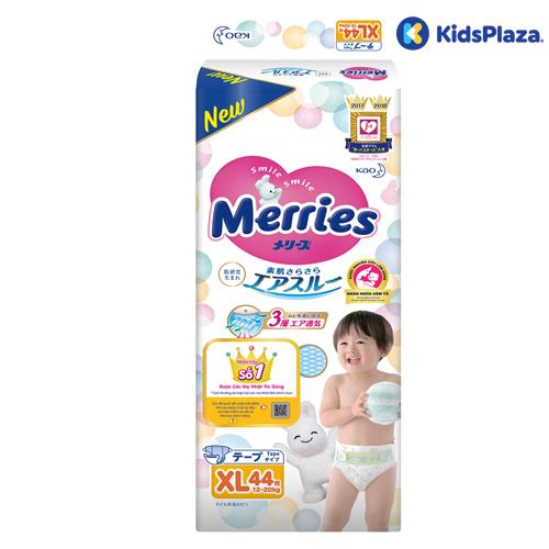 Bỉm - tã dán Merries XL 44 miếng