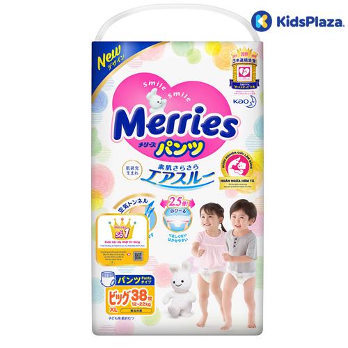 Bỉm tã quần Merries size XL 38 miếng
