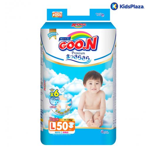 Bỉm tã dán Goon Premium L 50 miếng