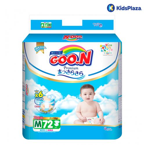 Tã dán Goon Premium M 72 miếng