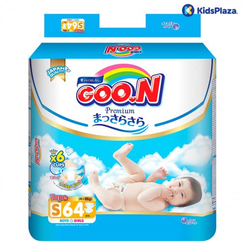 Bỉm tã dán Goon Premium S 64 miếng