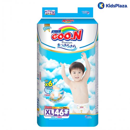 Bỉm tã dán Goon Premium XL 46 miếng