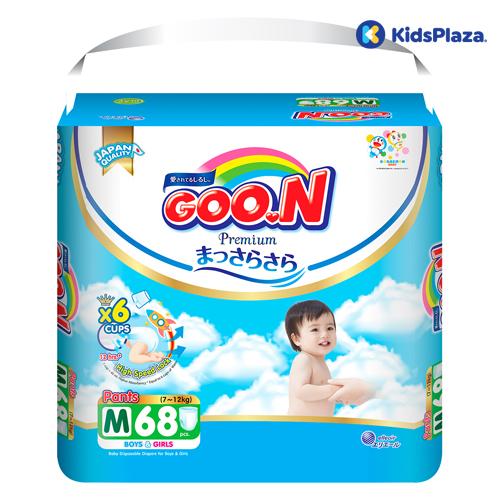 Bỉm tã quần Goon Premium size M 68 miếng