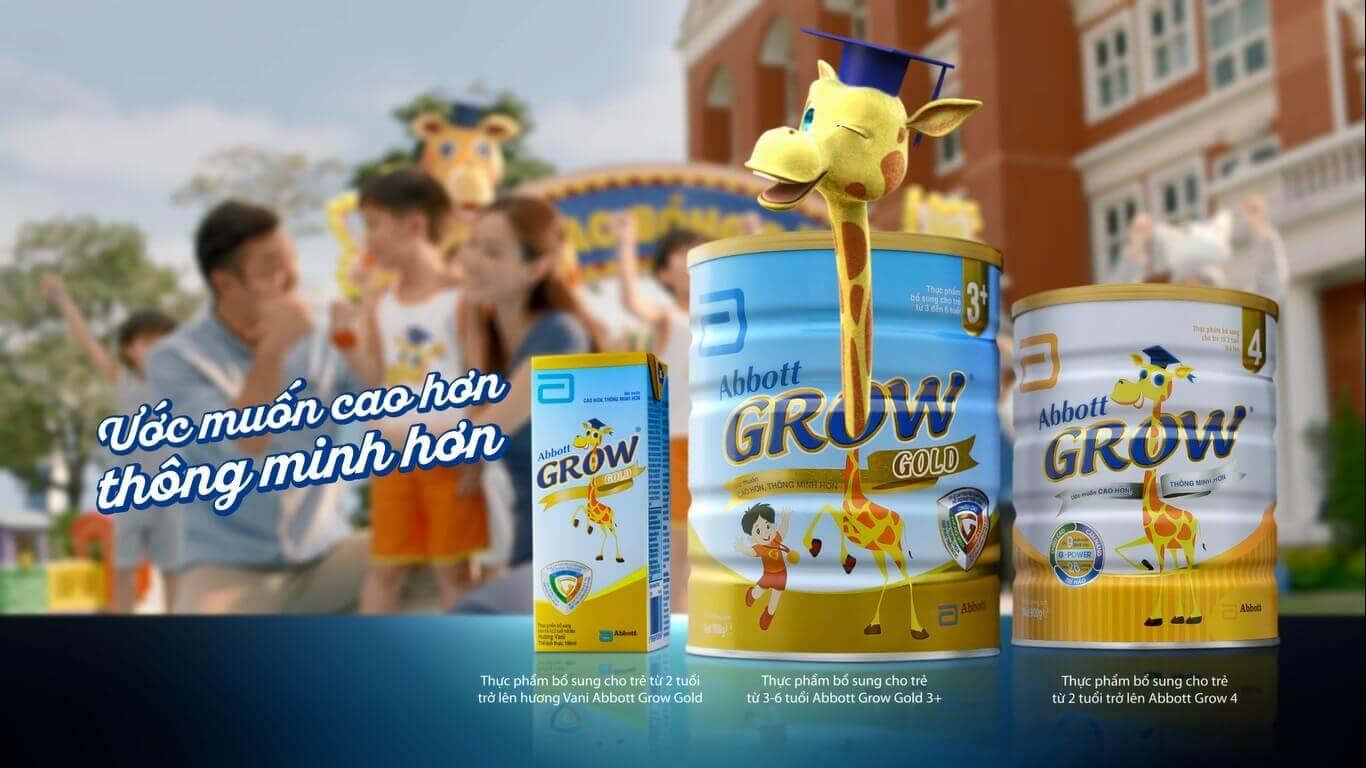 Công dụng của sữa Abbott Grow