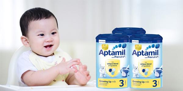 Các sản phẩm sữa Aptamil Anh